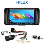 Autoradio 2-DIN GPS NX302E, NX405E, NX505E ou NX706E Toyota Hilux depuis 2012