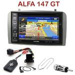 Pack autoradio GPS Alfa Romeo 147 de 2000 à 2009 et GT depuis 2005 - INE-W990HDMI, INE-W710D, INE-W987D ou ILX-702D au choix