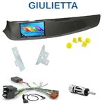Autoradio 2-DIN GPS NX302E, NX405E, NX505E ou NX706E Alfa Romeo Giulietta depuis 2010 - façade grise, noire, rouge ou blanche
