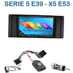 Autoradio 2-DIN GPS NX302E, NX405E, NX505E ou NX706E BMW Série 5 E39 & X5 E53