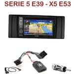 Pack autoradio GPS Série 5 E39 de 1996 à 2003 & BMW X5 E53 de 1999 à 2006 - INE-W990HDMI, INE-W710D, INE-W987D ou ILX-702D au choix