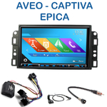 Autoradio 2-DIN GPS NX302E, NX405E, NX505E ou NX706E Chevrolet Epica, Aveo & Captiva