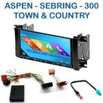 Autoradio 2-DIN GPS NX302E, NX405E, NX505E ou NX706E Chrysler 300, Aspen, Sebring et Town & Country depuis 2007