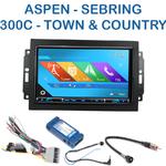 Autoradio 2-DIN GPS NX302E, NX405E, NX505E ou NX706E Chrysler 300C, Sebring, Aspen, Town & Country - avec REJ d'origine