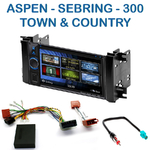 Autoradio 2-DIN Clarion Chrysler 300, Aspen, Sebring et Town & Country - VX404E