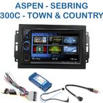 Autoradio 2-DIN Clarion Chrysler 300C, Town & Country, Sebring et Aspen avec REJ d'origine - VX404E