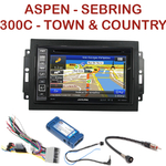 Pack autoradio GPS Chrysler 300C, Sebring, Aspen et Town & Country - INE-W990HDMI, INE-W710D, INE-W987D ou ILX-702D au choix
