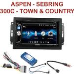 Autoradio 2-DIN Alpine Chrysler 300C Town & Country Sebring Aspen - REJ d'origine - CDE-W296BT, IVE-W560BT OU IVE-W585BT AU CHOIX