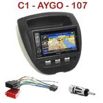 Pack autoradio GPS Citroën C1, Toyota Aygo & Peugeot 107 depuis 2005 - INE-W990HDMI, INE-W710D, INE-W987D ou ILX-702D au choix