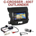 Pack autoradio GPS Citroën C-Crosser, Mitsubishi Outlander & Peugeot 4007 depuis 2007 - INE-W990HDMI, INE-W710D, INE-W987D ou ILX-702D au choix