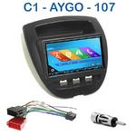 Autoradio 2-DIN GPS NX302E, NX405E, NX505E ou NX706E Peugeot 107, Toyota Aygo et Citroen C1