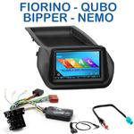 Autoradio 2-DIN GPS NX302E, NX405E, NX505E ou NX706E Peugeot Bipper Citroën Nemo et Fiat Qubo Fiorino