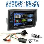 Autoradio 2-DIN Clarion Citroën Jumper, Relay, Fiat Ducato & Peugeot Boxer depuis 2006 - VX404E