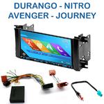 Autoradio 2-DIN GPS NX302E, NX405E, NX505E ou NX706E Dodge, Charger, Dakota, Durango, Grand Caravan, Magnum & Nitro depuis 2007