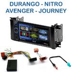 Autoradio 2-DIN Clarion Dodge Avenger, Charger, Dakota, Durango, Grand Caravan, Journey, Magnum & Nitro - VX404E