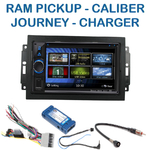 Autoradio 2-DIN Clarion Dodge Avenger Caliber Charger Grand Caravan, Journey Magnum Nitro RAM Pickup avec REJ d'origine - VX404E