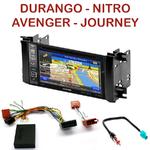 Pack autoradio GPS Dodge Avenger Charger Dakota Durango Grand Caravan Journey depuis 2008 - INE-W990BT, INE-W997D ou ILX-700 au choix