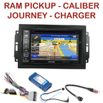 Pack autoradio GPS Dodge Caliber Charger Durango Grand Caravan Journey Magnum et RAM Pickup - INE-W990BT, INE-W997D ou ILX-700 au choix