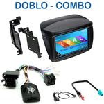 Autoradio 2-DIN GPS NX302E, NX405E, NX505E ou NX706E Fiat Doblo depuis 2010 et Opel Combo depuis 2012