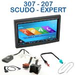 Autoradio 2-DIN GPS NX302E, NX405E, NX505E ou NX706E Fiat Scudo depuis 2007