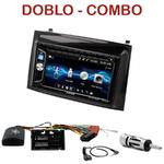 Autoradio 2-DIN Alpine Fiat Doblo et Opel Combo depuis 2015 - CDE-W296BT, IVE-W560BT OU IVE-W585BT AU CHOIX