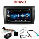 Autoradio 2-DIN Alpine Fiat Bravo depuis 2007 - CDE-W296BT, IVE-W560BT, IVE-W585BT OU ICS-X8 AU CHOIX