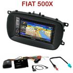 Pack autoradio GPS Fiat 500X depuis 2014 - INE-W990HDMI, INE-W710D, INE-W987D ou ILX-702D au choix