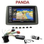 Pack autoradio GPS Fiat Panda de 2003 à 2011 - INE-W990HDMI, INE-W710D, INE-W987D ou ILX-702D au choix