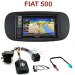 Pack autoradio GPS Fiat 500 depuis 2007 (façade beige ou noire) - INE-W990BT, INE-W997D ou ILX-700 au choix