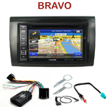 Pack autoradio GPS Fiat Bravo depuis 2007 - INE-W990HDMI, INE-W710D, INE-W987D ou ILX-702D au choix