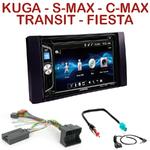 Autoradio 2-DIN Alpine Ford C-Max Kuga Focus Fiesta Fusion Transit S-Max et Galaxy - CDE-W296BT, IVE-W560BT OU IVE-W585BT AU CHOIX