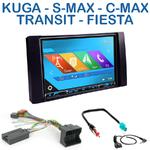 Autoradio 2-DIN GPS NX302E, NX405E, NX505E ou NX706E Ford C-Max, Focus, Fusion, Kuga, S-Max, Transit & Fiesta