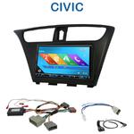 Autoradio 2-DIN GPS NX302E, NX405E, NX505E ou NX706E Honda Civic depuis 2012 (modèle 5 portes)