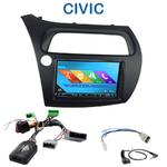 Autoradio 2-DIN GPS NX302E, NX405E, NX505E ou NX706E Honda Civic 2006 à 2011 (modèle 5 portes)