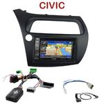 Pack autoradio GPS Honda Civic 5 portes de 2006 à 2012 - INE-W990BT, INE-W997D ou ILX-700 au choix