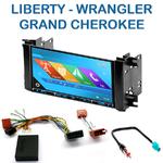 Autoradio 2-DIN GPS NX302E, NX405E, NX505E ou NX706E Jeep Commander, Grand Cherokee, Liberty, Wrangler depuis 2007