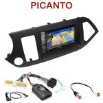 Pack autoradio GPS Kia Picanto depuis 05/2011 - INE-W990HDMI, INE-W710D, INE-W987D ou ILX-702D au choix