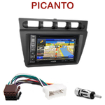 Pack autoradio GPS Kia Picanto de 2004 à 2007 - INE-W990BT, INE-W997D ou ILX-700 au choix