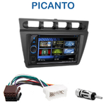 Autoradio 2-DIN Clarion Kia Picanto de 2004 à 2007 - VX404E