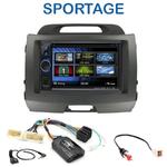 Autoradio 2-DIN Clarion Kia Sportage de 08/2010 à 2014 -2CDE-W233R, CDE-W235BT, IVE-W585BT ou ICS-X8 au choix