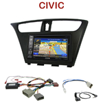 Pack autoradio GPS Honda Civic 5 portes depuis 2012 - INE-W990HDMI, INE-W710D, INE-W987D ou ILX-702D au choix