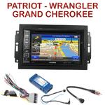 Pack autoradio GPS Jeep Commander, Compass, Grand Cherokee, Patriot & Wrangler - INE-W990HDMI, INE-W710D, INE-W987D ou ILX-702D au choix