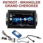 Autoradio 2-DIN Alpine Jeep Commander Compass Grand Cherokee Patriot Wrangler - CDE-W296BT, IVE-W560BT OU IVE-W585BT AU CHOIX