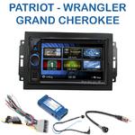 Autoradio 2-DIN Clarion Jeep Commander, Compass, Grand Cherokee, Patriot & Wrangler avec REJ d'origine - VX404E