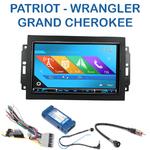 Autoradio 2-DIN GPS NX302E, NX405E, NX505E ou NX706E Jeep Commander, Compass, Grand Cherokee, Patriot & Wrangler - avec REJ d'origine