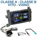 Autoradio 2-DIN Clarion Mercedes Classe A de 04/2004 à 04/2012, Classe B de 06/2005 à 06/2011, Viano & Vito depuis 2006 - VX404E