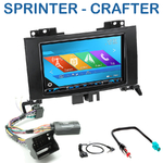 Autoradio 2-DIN GPS NX302E, NX405E, NX505E ou NX706E Mercedes Benz Sprinter depuis 04/2006 et Crafter