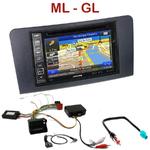 Pack autoradio GPS Mercedes ML W164 & GL X164 de 2005 à 2011 - INE-W990BT, INE-W997D ou ILX-700 au choix