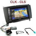 Pack autoradio GPS Mercedes CLK W209 de 2006 à 2010 - INE-W990BT, INE-W997D ou ILX-700 au choix
