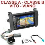 Pack autoradio GPS Mercedes Classe A, Classe B, Viano et Vito - INE-W990BT, INE-W997D ou ILX-700 au choix